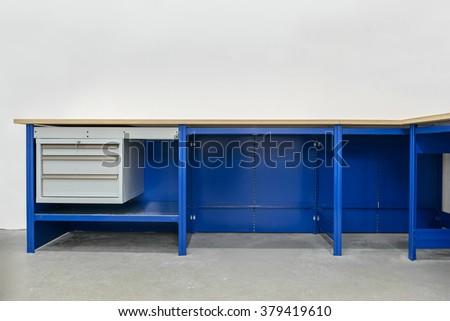 Workbench on white background - stock photo