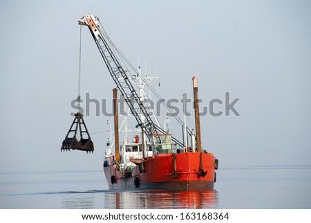 Workboat - stock photo