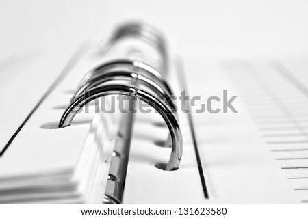workbook closeup - stock photo