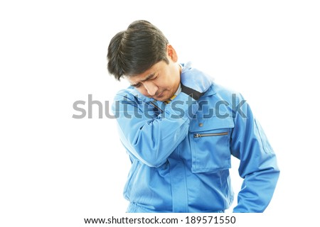 Worker having a headache