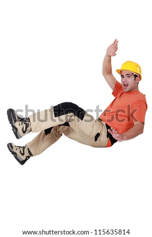 Worker having an accident - stock photo