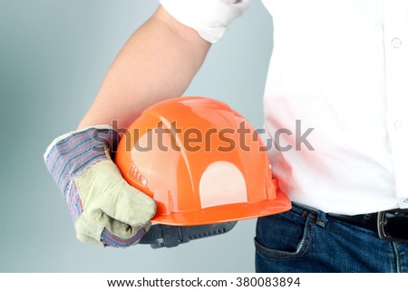 Worker in a construction site - stock photo