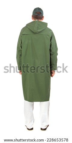 Worker in workwear. Isolated on a white background.  - stock photo
