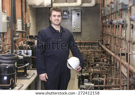 worker operating  - stock photo