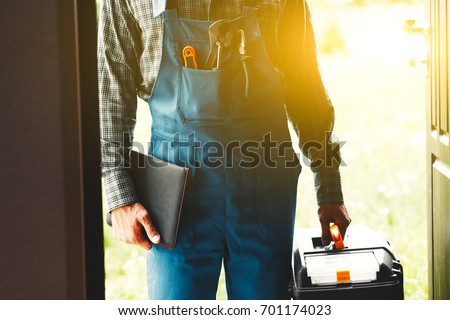 worker, service man, plumber or electric