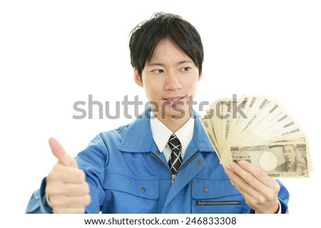 Worker with money