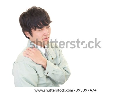 Worker with shoulder pain