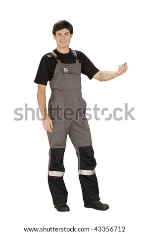 worker with smile - stock photo