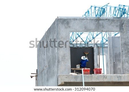 Worker working in construction site