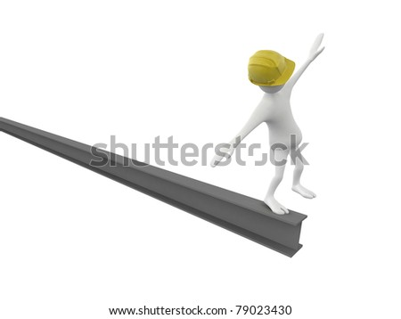 workers in equilibrium - stock photo