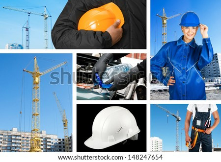 workers with equipment  - stock photo