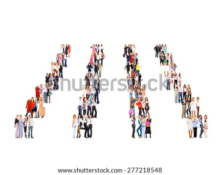 Workforce Concept Achievement Idea  - stock photo