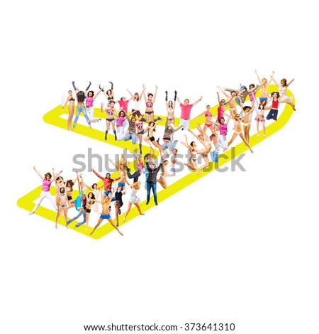 Workforce Concept Standing Together  - stock photo