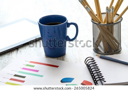 Working, analyzing graphics and doing calculations