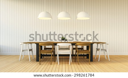 Working and Dining set modern / 3D rendering - stock photo