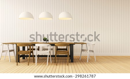 Working and Dining set modern / 3D rendering