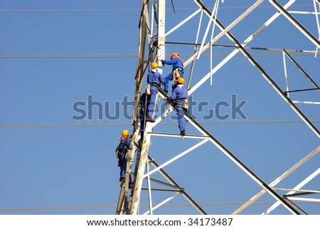 Working at Height - stock photo