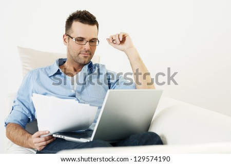 Working at home - stock photo