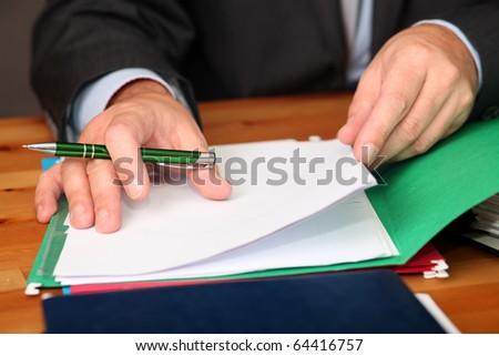 Working Businessman - stock photo