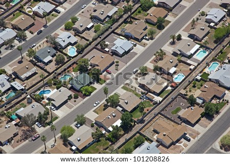Working class neighborhood in Southwestern United States