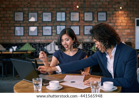 Working during lunch break - stock photo