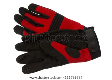 Working gloves, isolated on background