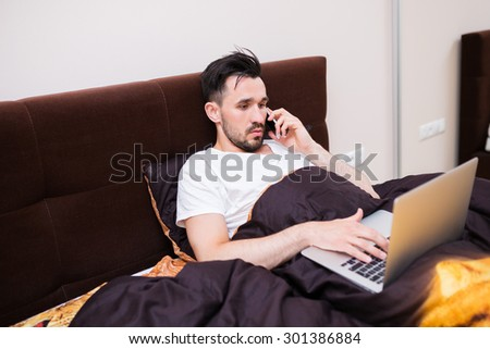 Working hard in your home office - stock photo