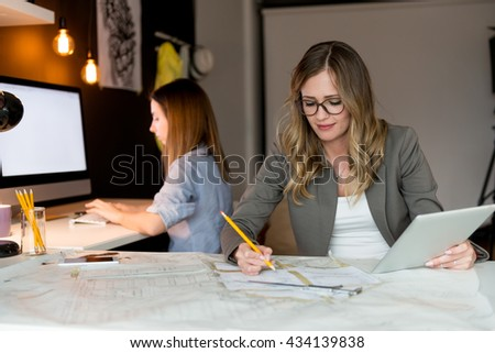 Working on a new project - stock photo