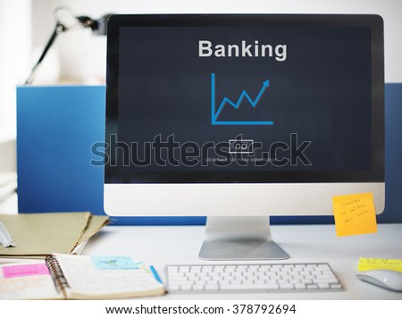 Working On The Computer Banking Concept.