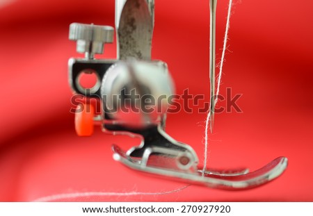 Working part of sewing machine  - stock photo