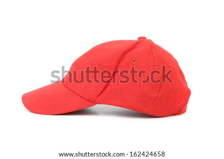 Working peaked cap. Isolated on a white background. - stock photo