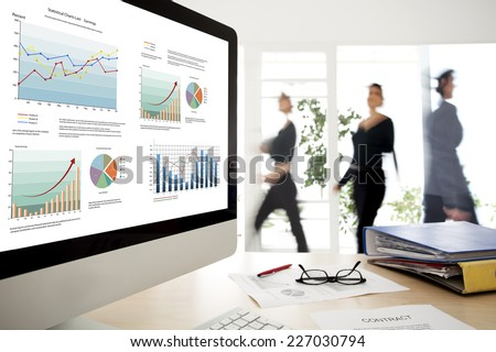 Working people in the office - stock photo