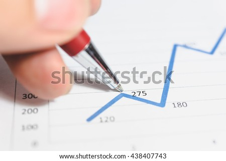 Working set for analyzing financial statistics and analyzing a market data. Data analyzing from charts and graph to find out the result. - Vintage tone.