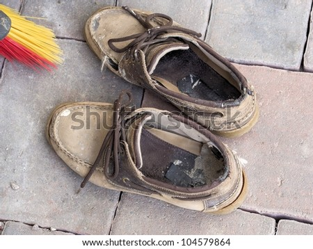 Working shoes - stock photo