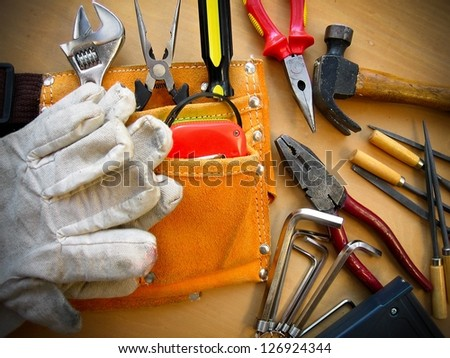 Working tools background. - stock photo