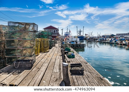 Working waterfront in Portland, Maine