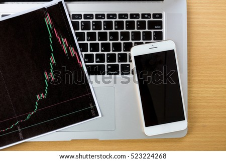 Working with modern devices, digital tablet computer and mobile phone.business concept