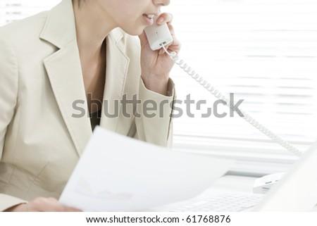 Working woman - stock photo