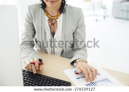 Working woman in the office