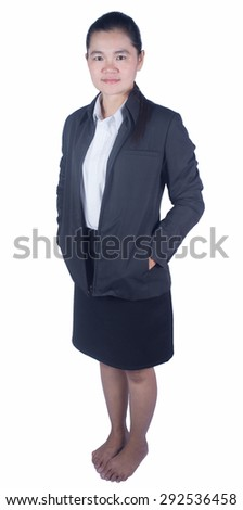 Working woman. Isolated on white background.