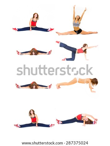 Workout Beauty Fun and Exercise  - stock photo