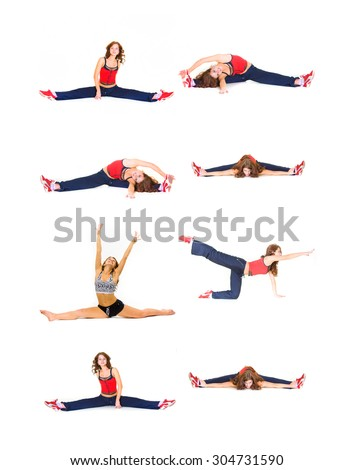 Workout Beauty Stretching Muscles  - stock photo