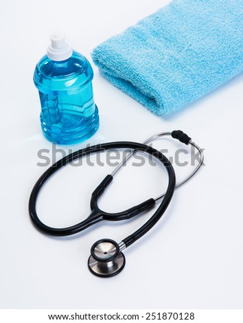 Workout Safety gear for heart health - stock photo