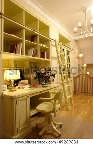 workplace at home - stock photo