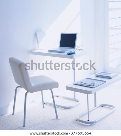 Workplace at home with laptop
