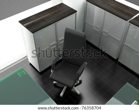 Workplace at modern office 3 d image