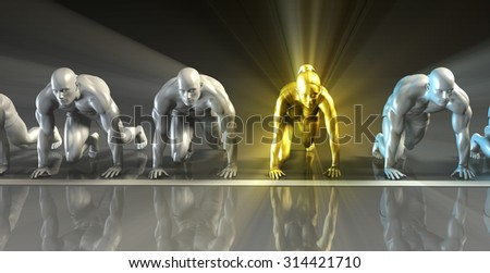 Workplace Gender Equality in a Business or Career - stock photo