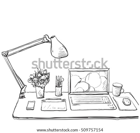 Laptop Drawing Stock Images, Royalty-Free Images & Vectors ...