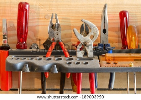 Workshop tools / Hand tools - stock photo