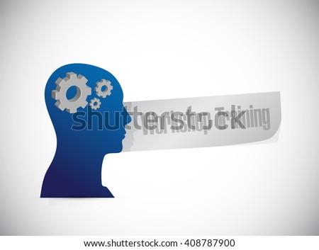 Workshop training thinking brain sign concept illustration design graphic - stock photo